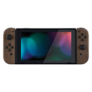 Soft Touch Wood Grain Joycon Controller Housing Shell + Buttons for Nintendo Switch Joy-Con 4