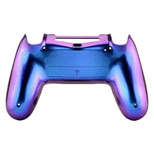 eXtremeRate Purple and Blue Bottom Shell, Chameleon Back Housing Case Cover, Replacement Parts for Playstation 4 PS4 Slim Pro Controller JDM-040, ...