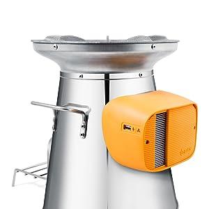 BioLite, BioLite HomeStove, Solo STove, wood burning stove, portable stove