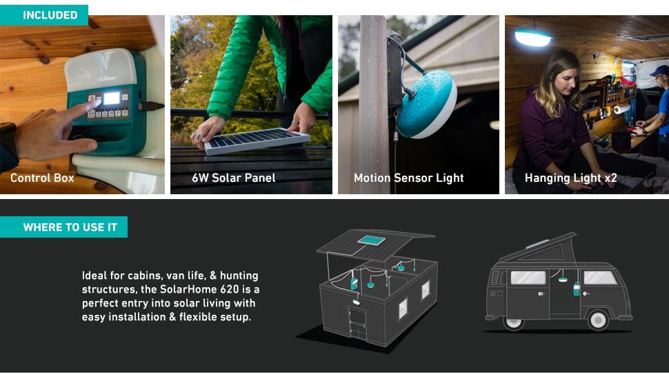 BioLite SolarHome 620 Portable Off-Grid Solar Lighting System
