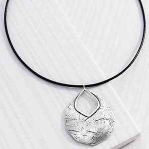 Amazon silpada badge of beauty leather and sterling silver the badge of beauty necklace by silpada features an etched sterling silver pendant on a genuine leather cord for style that values classic trends thatll aloadofball Images