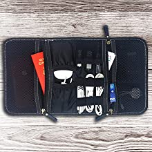 leather cable cord electronics organizer