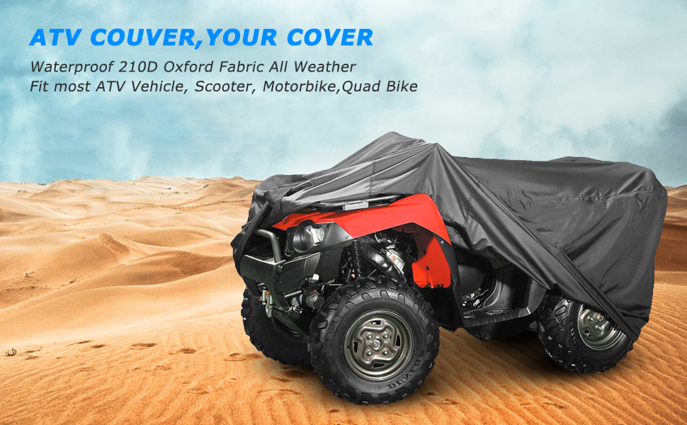 "600 Denier ATV Cover fits ATV up to 83/"" L x 45/"" W  x 38/"" H"