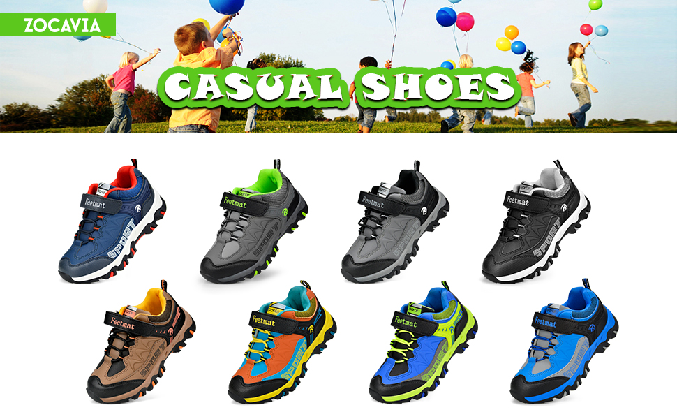 ZOCAVIA Boys Shoes Athletic Hiking