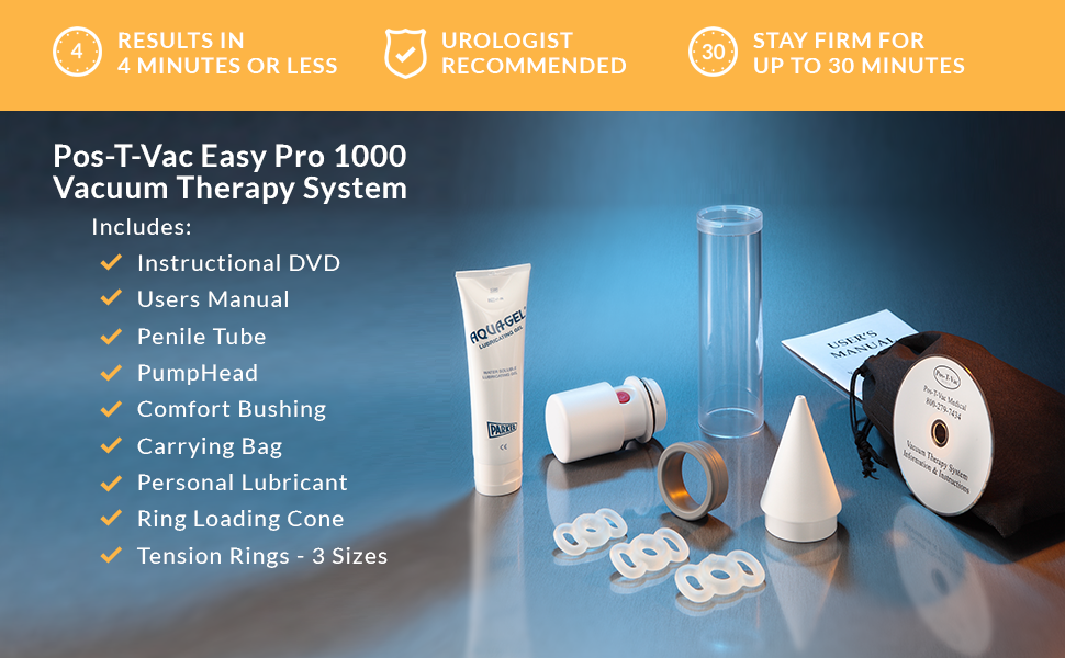 For those looking for a natural solution for erectile dysfunction, the  Pos-T-Vac Easy Pro 1000 is a safe and natural solution that is made in the  USA.