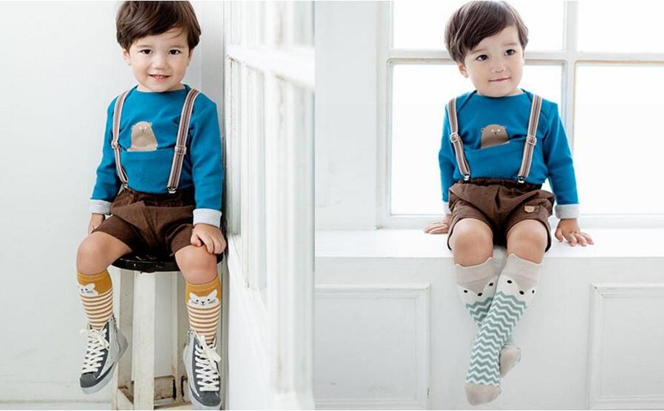 Socks for Toddler Boys,Mossio 6 Pack Multi Uniform Flat Socks 0-12 Months Pink