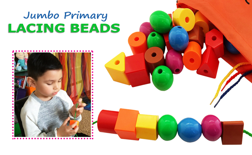 beads for kids, jumbo lacing beads, skoolzy toys, montessori toys, lacing toys, educational toys