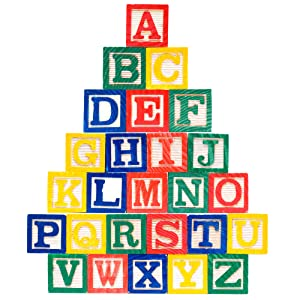 Amazon Com Skoolzy Abc Wooden Blocks For Toddlers 30