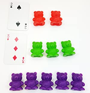 Amazon skoolzy rainbow counting bears with matching sorting a great fine motor skills development toy for 2 years olds 3 years olds autistic kids and boys and girls alike fandeluxe Choice Image