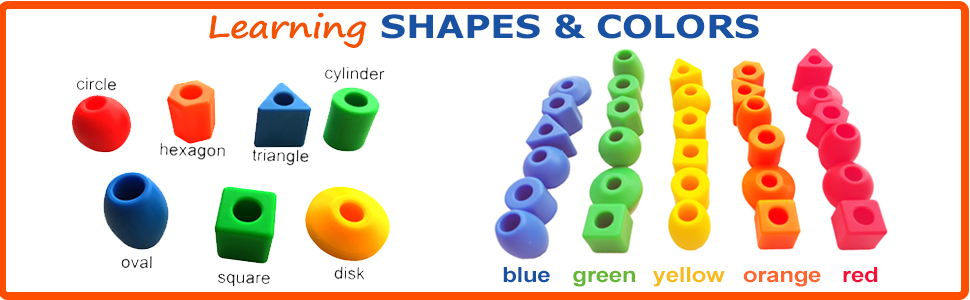 toddler learning shapes, toddler learning colors, color recognition, beads for kids, preschool