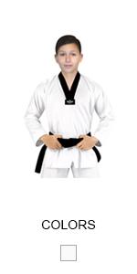 Amazon.com: Elite deportes Color Blanco Taekwondo Kimono TKD ...