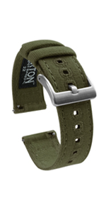 Barton Watch Bands Canvas Quick Release