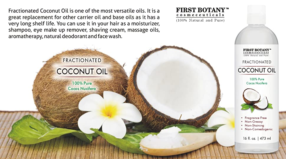 fractionated coconut oil 16 fl oz 100 natural pure mct coconut oil for hair. Black Bedroom Furniture Sets. Home Design Ideas