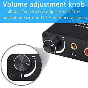 Supports 192kHz, 2.4Bit sampling rate, with Volume Adjustment Control.