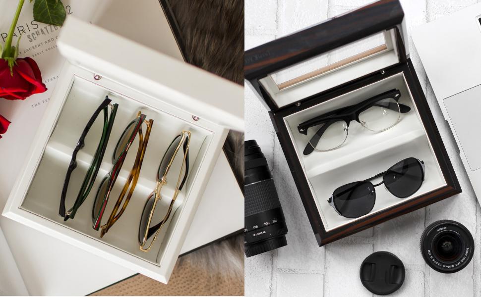 OYOBox Mini Luxury Eyewear Organizer Sunglasses Wood Display Box for Glasses