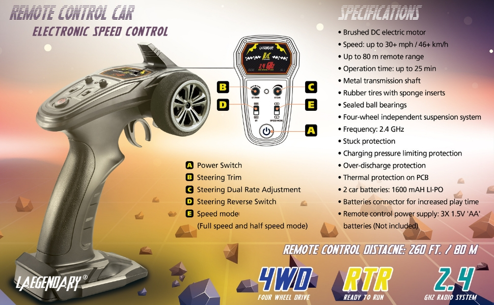 RC truck specifications 1 10 scale
