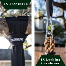 tree strap and carabiner