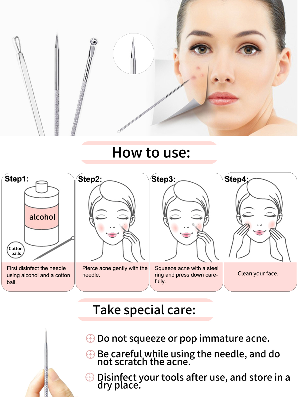 Extruded pimple: what to process How to squeeze out pimples correctly