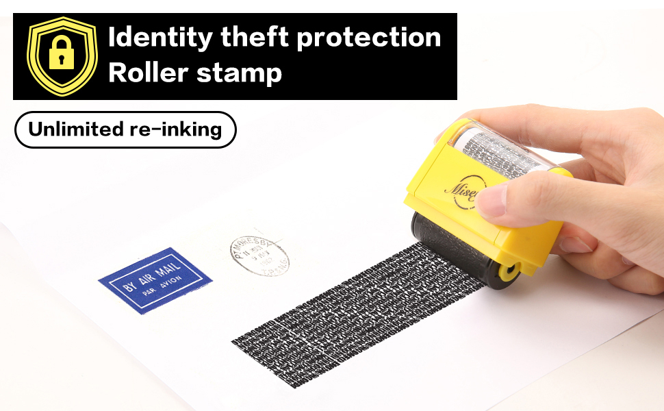 identity protection roller stamps