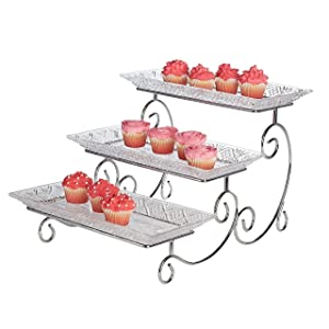 Unique Amazon.com | James Scott Crystal 3 Tier Rectangle Server: Platters MD68