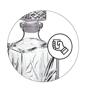 Amazon.com: James Scott - Juego de decantador y vasos de ...