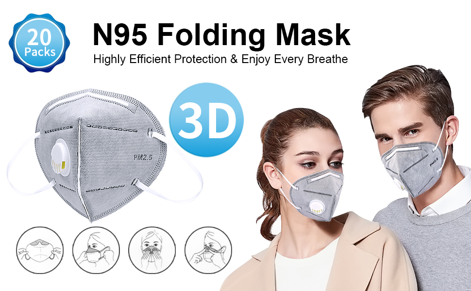 govalve dust mask respirator - n95 disposable particulate