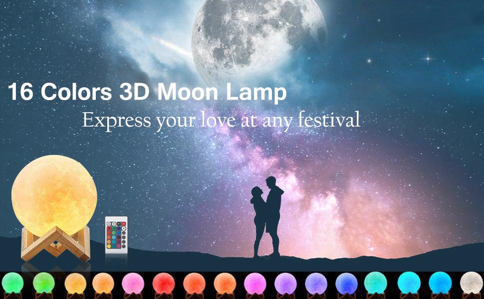 3D Printing LED Moon Lamp