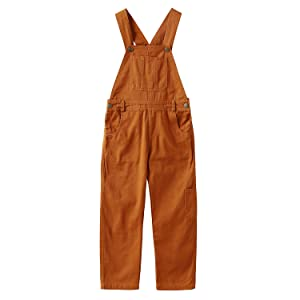 Grandwish Boys Brown Bib Overall Size 3T-10
