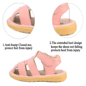 LONSOEN Baby Boys Girls Sandal Heel