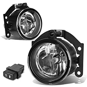2x Smoked OE Bumper Fog Light//Lamp+Switch for 10-15 Mitsubishi Outlander RVR ASX