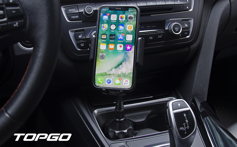 phone holder  [Upgraded] TOPGO Cup Holder Phone Mount Universal Adjustable Gooseneck Cup Holder Cradle Car Mount for Cell Phone iPhone Xs/XS Max/X/8/7 Plus/Galaxy 7b5b3791 0565 40df a0aa c2b862ad9b12