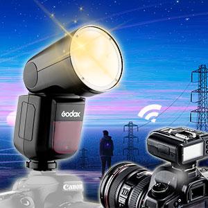 godox v1-c round flash