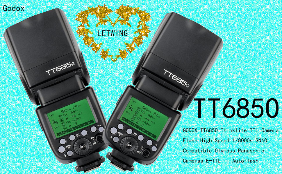 GODOX TT685O Thinklite TTL 2X Camera Flash High Speed 1//8000s GN60 for Olympus Panasonic Cameras E-TTL II Autoflash,GODOX X1T-O TTL 1//8000s HSS 32 Channels 2.4G Flash Trigger Transmitter for Olympus