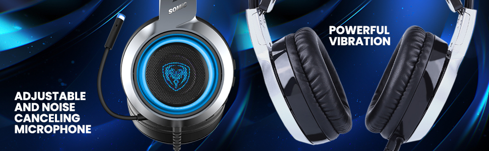 vibration headset with mic