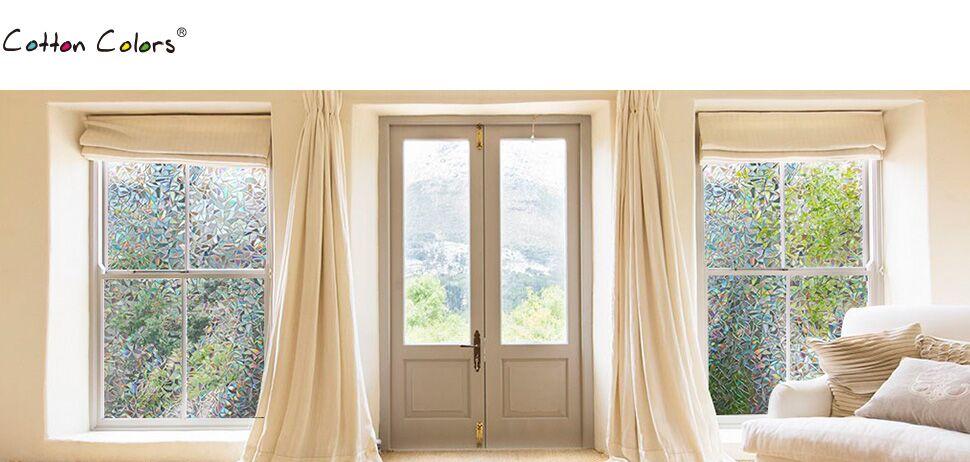 window film 3d static decor self adhesive uv blocking heat control privacy new 690006032152 ebay. Black Bedroom Furniture Sets. Home Design Ideas