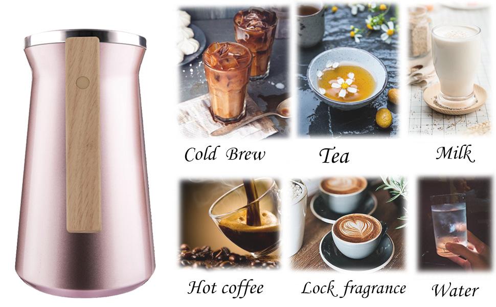 milk pot, tea pot, tea carafe, keep hot, kettle pot, hot coffee