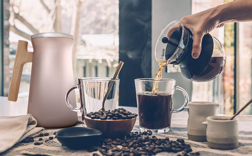 coffee carafe thermal carafe tea carafe 34 oz carafe 1 liter carafe isosteel