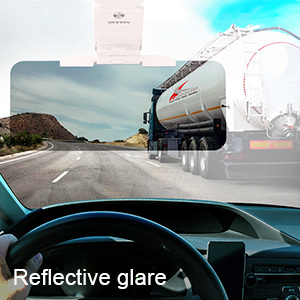sun visor reflected galre
