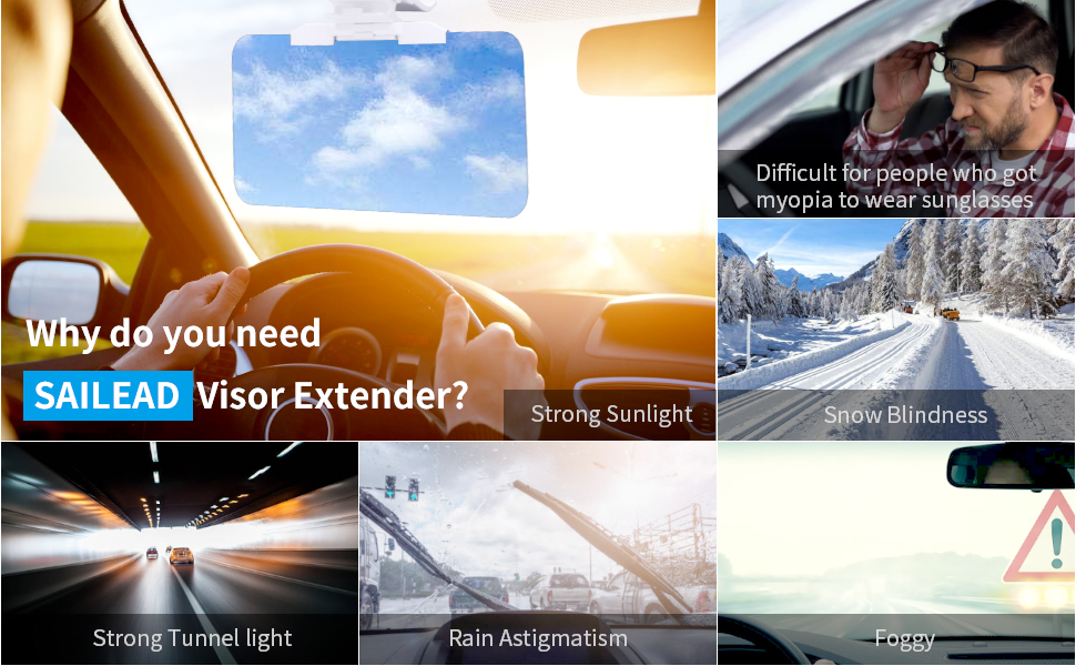sun visor extender sailead blocker sunshade protection
