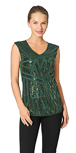 c4c6ca49fc98b2 ... Metme Women's Sequins Embellished Sleeveless Shirt V Neck Pullover Top  · Metme Women V Neck Slight Loose Flashy Sequin Sparkly Vest Tops Tank Tops  ...