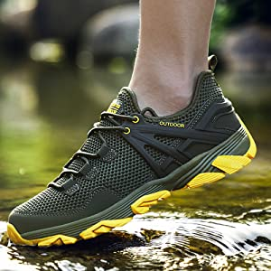 Army Green Hiking Shoes