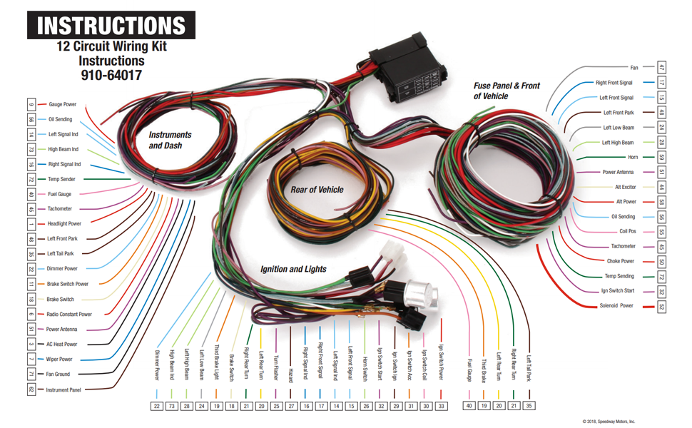 Amazon.com: 12 Circuit Universal Street Rod Wiring Harness w/Detailed  Instructions: Automotive | Who Makes Wiring Harness |  | Amazon.com