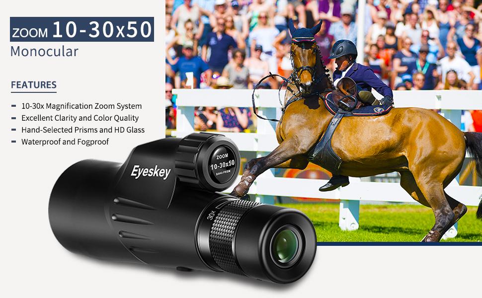 Eyeskey 10-30X50 Monoculars