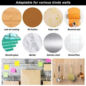 Amazon.com: Ganchos adhesivos VIGOROSO – Gancho de pared ...