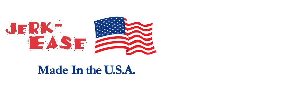 Jerk-Ease logo with American Flag and Made in the USA