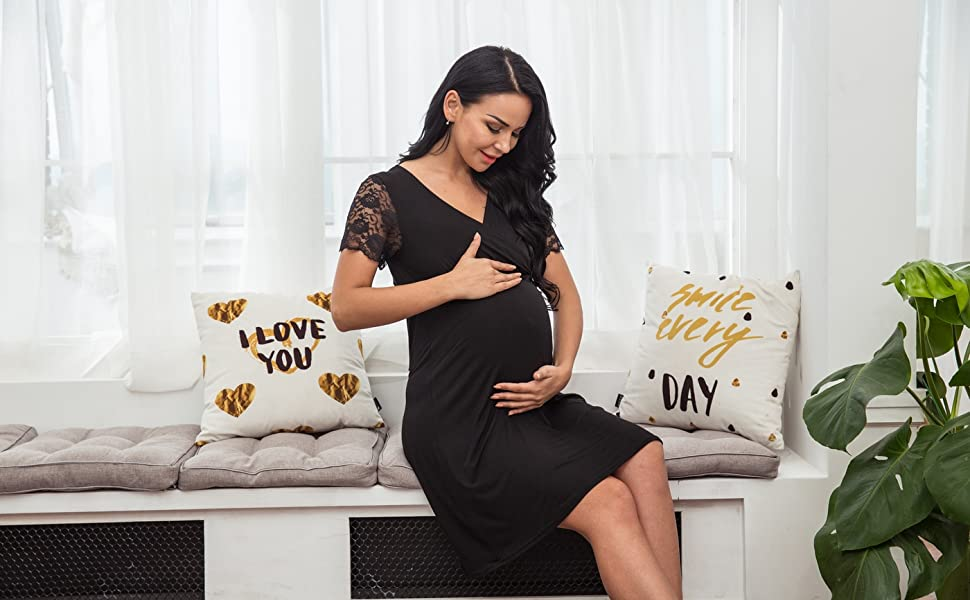 Maxmoda Womens Deliverylabormaternitynursing Nightgown Pregnancy