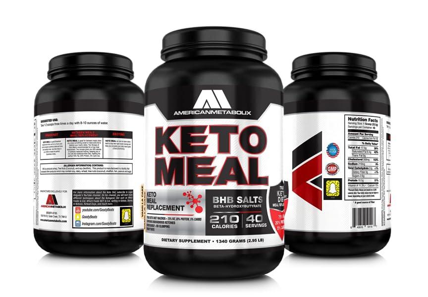 Amazon.com: American Metabolix Keto Meal Vanilla Cake, 48 Ounce: Health & Personal Care