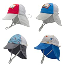 sonsi sun hats neck flap baby infant toddler girl boy trucker style UPF 50 quick dry baseball cap