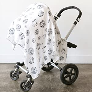 stroller cover carseat car seat canopy sun germs baby muslin cotton swaddle receiving blanket aden