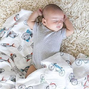 blanket nap baby boy girl infant newborn burp cloth multi-use copper pearl muslin cotton organic n